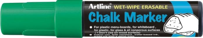 Marker cu creta ARTLINE, pentru table de scris, varf 12.0mm - verde
