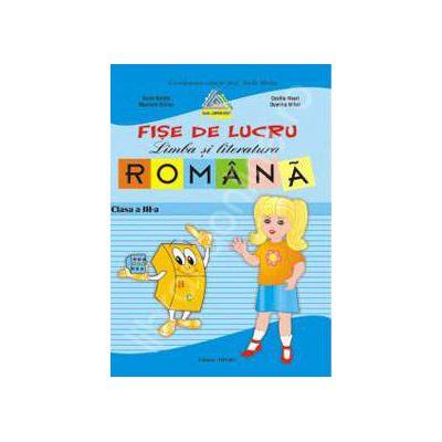 Fise lucru limba romana clasa a III-a (Albastra)