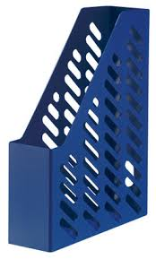 Suport vertical plastic pentru cataloage, albastru, Han Klassik