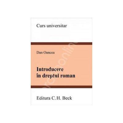 Introducere in dreptul roman