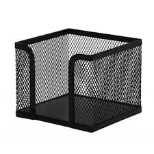Suport metalic Mesh, pentru cub notite, Q-Connect - negru