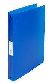 Caiet mecanic 4 inele - D25mm, coperti flexibile PP, Q-Connect - albastru transparent