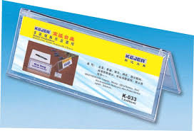 Display nume pentru birou transparent, din plastic, forma A,  72 x 200mm, Kejea