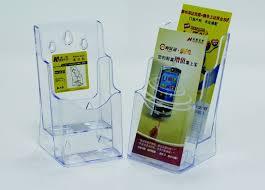 Display plastic pentru brosuri, transparent, de birou/perete, 2 x 1/3A4, Kejea