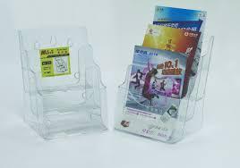 Display plastic pentru brosuri, transparent, de birou/perete, 3 x A5, Kejea