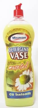 Detergent vase Misavan, cu balsam,Musetel 1L