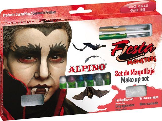 Set machiaj ALPINO Monsters - 6 culori x 5 gr + accesorii