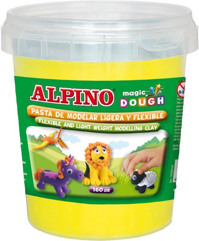 Plastilina magica, 160 grame/cutie, ALPINO - galbena