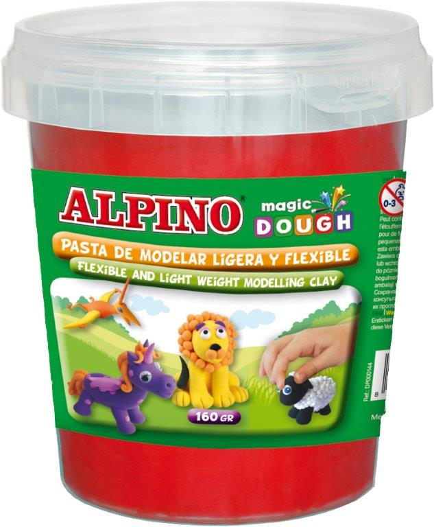 Plastilina magica, 160 grame/cutie, ALPINO - rosie