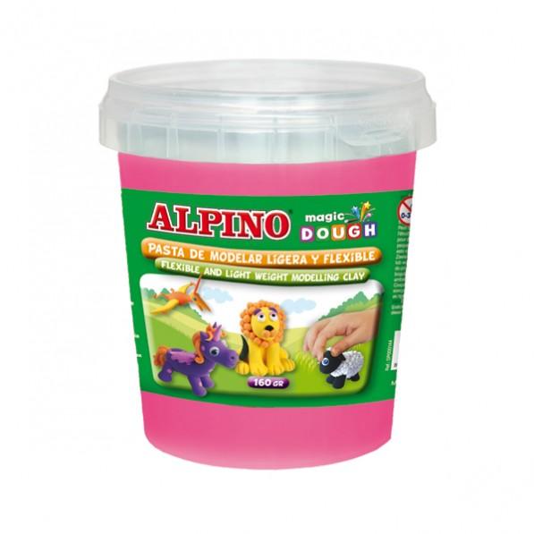 Plastilina magica, 160 grame/cutie, ALPINO - roz