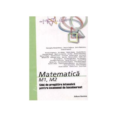 Matematica M1, M2. Ghid de pregatire intensiva pentru examenul de bacalaureat