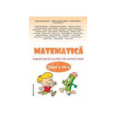 Matematica clasa a VII-a, Sugestii pentru lucrarile de control si teze