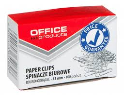Agrafe metalice 33mm, 100/cutie, Office Products