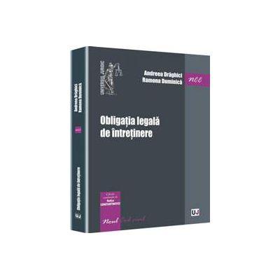 Obligatia legala de intretinere (Editie coordonata de Rodica Constantinovici)