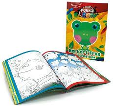Carte colorat, A4, 24 file, 100g/mp, coperti carton, PUKKA Herbert Frog