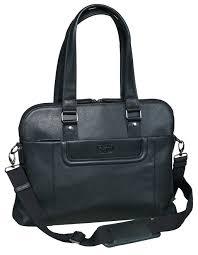 Geanta PIERRE Mini Line, dama, din piele neagra, pentru laptop, 29 x 40 x 10cm