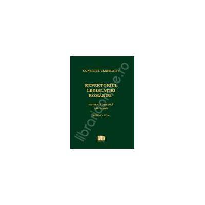 Repertoriul legislatiei Romaniei