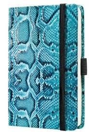 Caiet lux cu elastic, coperti imitatie crocodil, A6(95 x 150mm), 97 file, Conceptum-albastru-matemat