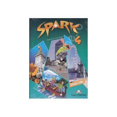 Curs pentru limba engleza (Level B1+). SPARK 4. Class CDs (4 CD-uri)