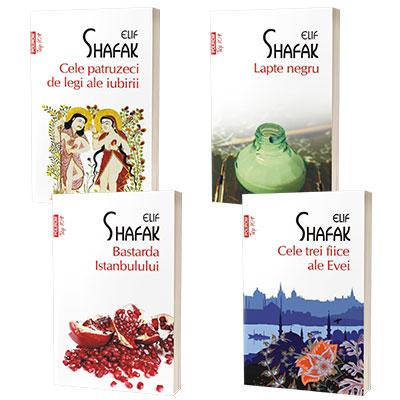 Serie de autor Elif Shafak. Cele trei fiice ale Evei, Bastarda Istanbulului, Lapte negru, Cele patruzeci de legi ale iubirii (set de 4 carti)