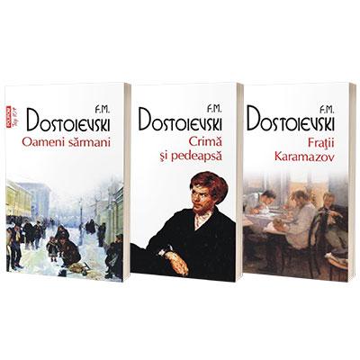 Serie de autor Feodor Dostoievski. Fratii Karamazov, Crima si pedeapsa si Oameni sarmani (set de 3 carti)