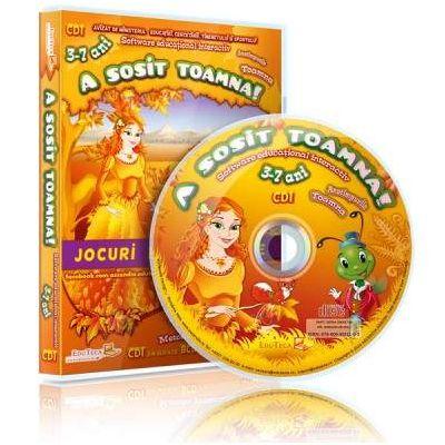 A sosit toamna. Jocuri educationale 3-7 ani, CD 1 (Colectia Eduteca)