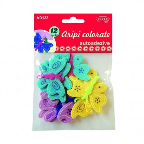 Accesorii craft - aripi colorate autoadezive pasla Daco, AD122