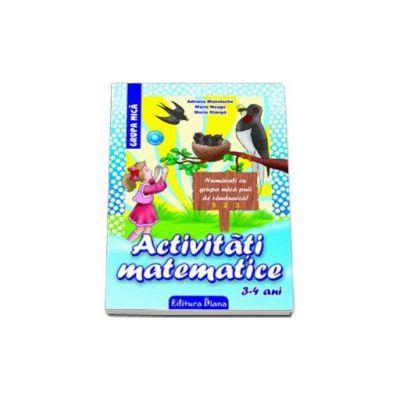 Activitati matematice, pentru 3-4 ANI - Numarati cu grupa mica puii de randunica! (Editia 2013)