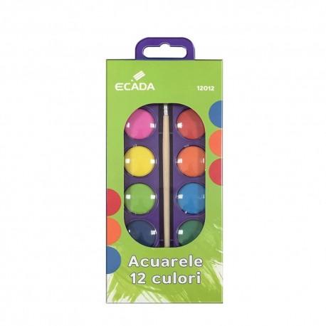 Acuarele 12 culori Ecada