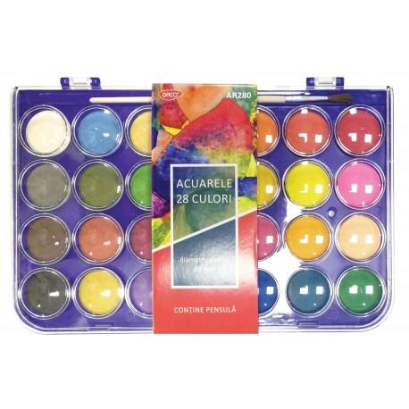 Acuarele 12 culori Albu