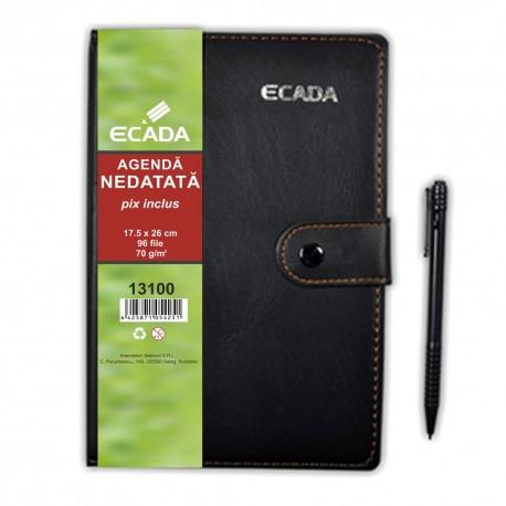 Agenda cu pix 17.5x25 cm Ecada