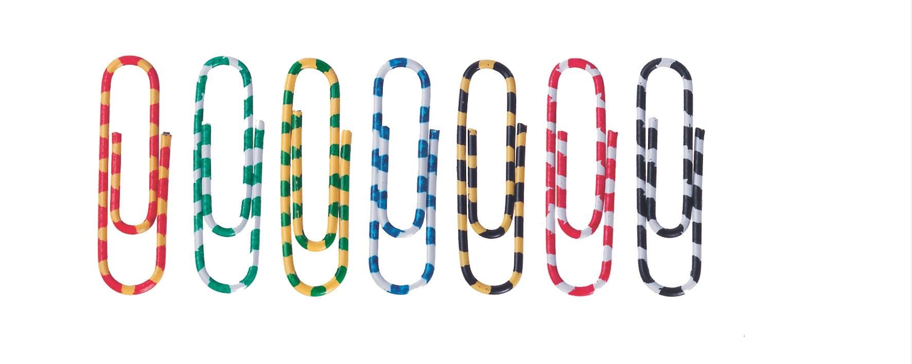Agrafe colorate 28 mm, 100/cutie, Alco Zebra - asortate