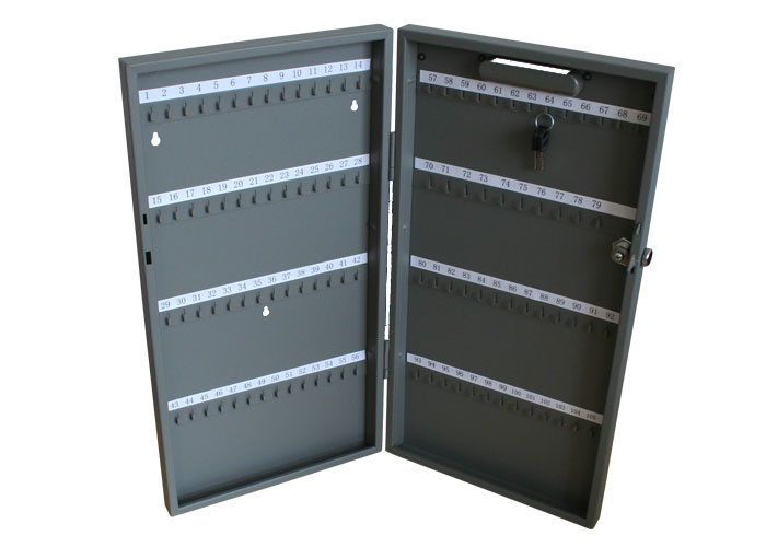 Panou metalic pentru 105 de chei, 270 x 515 x 52 mm, inchidere cu cheie, ALCO