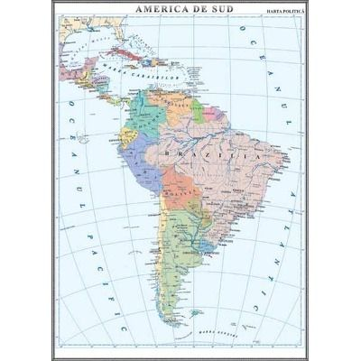 America de Sud. Harta politica 1000x1400 mm