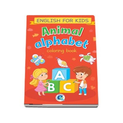 Animal alphabet. English for kids, carte de colorat