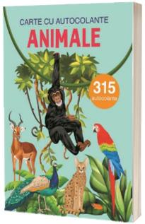 Animale, carte cu atocolante - 315 autocolante
