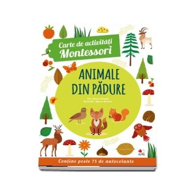 Animale din padure. Carte de activitati Montessori