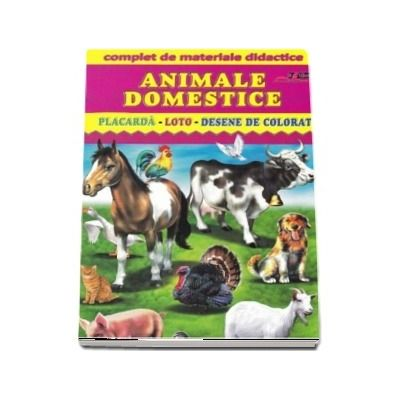Animale Domestice Placarda Loto Desene De Colorat