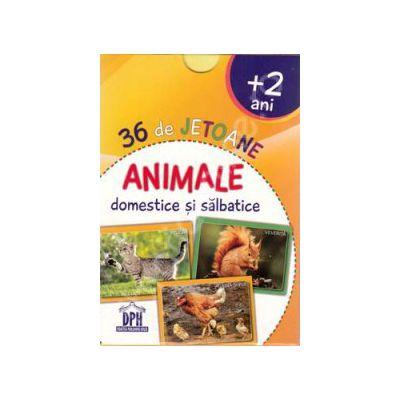 Animale domestice si salbatice. 36 de jetoane