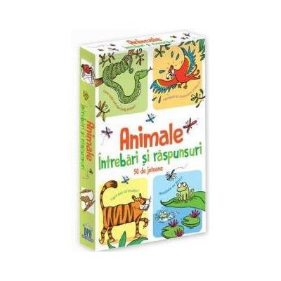 Animale - Intrebari si raspunsuri - 50 de Jetoane cu peste 500 de intrebari