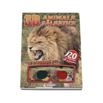 Animale salbatice - Cu ochelari 3D! (Contine 20 de abtibilduri 3D reutilizabile)