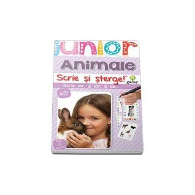 Animale. Scrie si sterge (Junior 2-5 ani)
