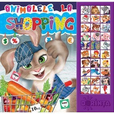 Animalele la Shopping - Carte cu sunete