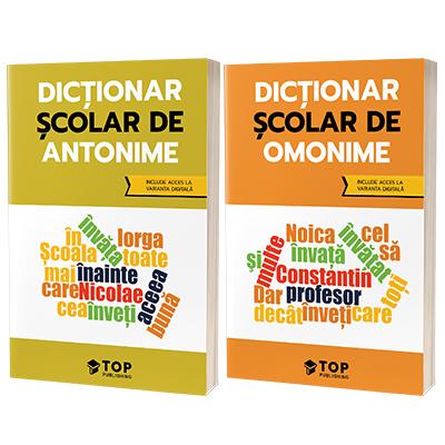 Set de dictionare scolare cu acces la varianta digitala - Antonime si Omonime
