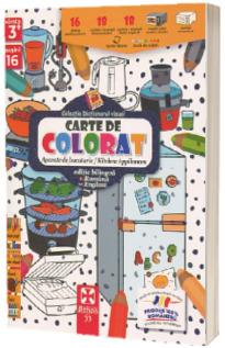 Aparate de bucatarie, carte de colorat
