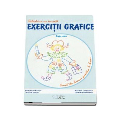Arlechino ne invata exercitii grafice. Caiet de lucru pentru 5-6 ani
