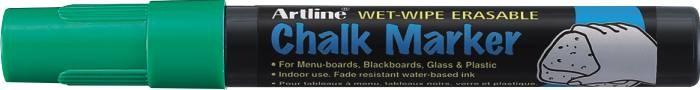 Marker cu creta ARTLINE, pentru table de scris, varf 4.0mm - verde