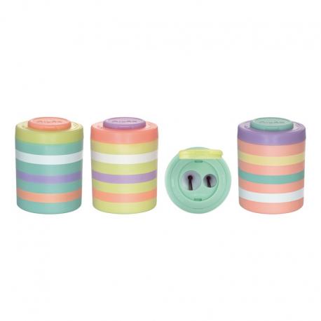 Ascutitoare plastic dubla cu container, Sugar Milan