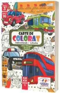 Autovehicule, carte de colorat