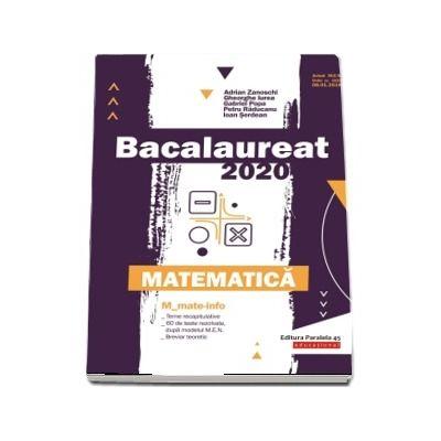 Bacalaureat 2020. Matematica M_Mate-Info